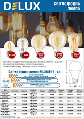 Лампи світлодіодні Delux filament