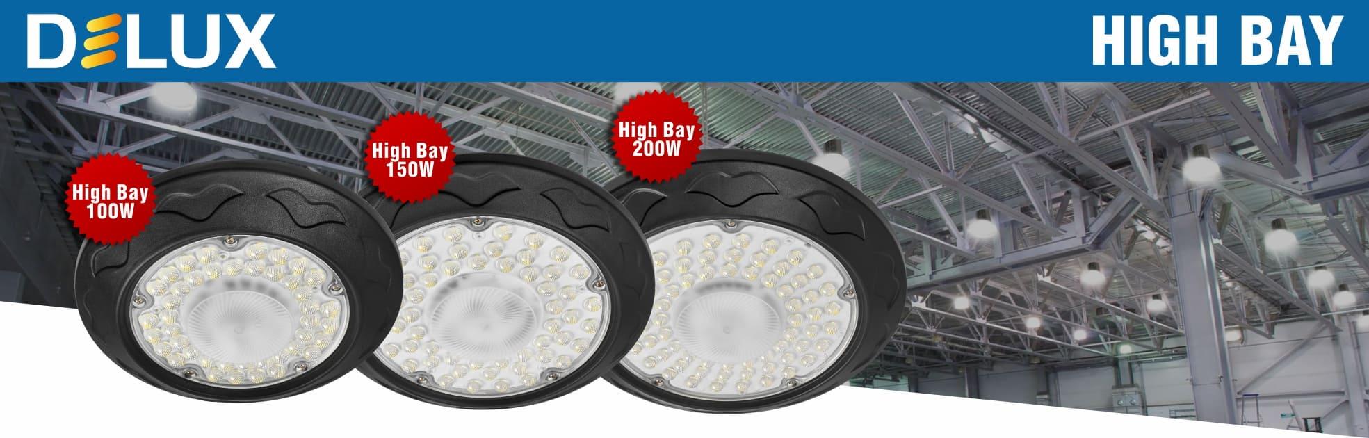 Новые LED светильники DELUX High Bay