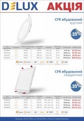 Акция светильники светодиодные накладные Delux CFR LED