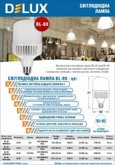 Лампи світлодіодні високопотужні Delux BL 80