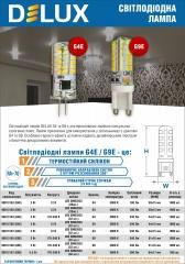 Лампи світлодіодні Delux G4E та G9E