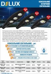 Світильники світлодіодні вуличні Delux ORION 01, 02, 03