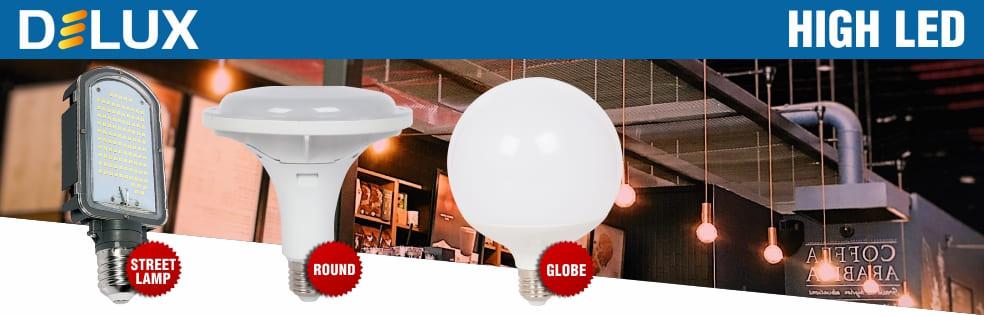 Нові високопотужні LED лампи в асортименті ТМ Delux